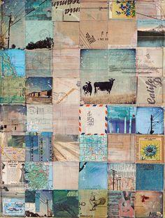 American West - 16 x 20 paper print - by Mae Chevrette. 42.00, via Etsy. #collage