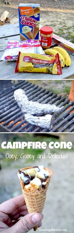 Campfire Cones, could use GF cones so the whole family could enjoy them!
