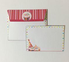 Cartão e envelope happy birthday