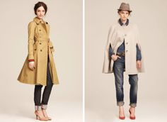 Adorable Pea coat with a more flared bottom and the Poncho coat is FAB!