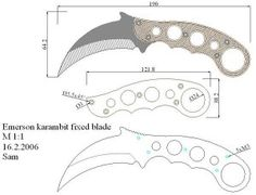 Чертежи ножей для изготовления. Часть 2 Karambit Knife Tactical, Tactical Swords, Cool Knives, Knives And Swords, Knife Drawing, Knife Template, Hand Forged Knife, Knife Making Tools, Trench Knife