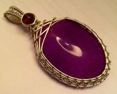 SALE w/Coupon Code: Wire Wrapped, Wire Sculpted Purple Dragons Vein Pendant, handmade artisan wire wrapped jewelry. Womens Jewelry