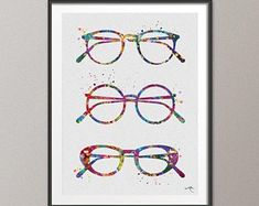 Check out our optometry selection for the very best in unique or custom, handmade pieces from our art & collectibles shops. Free Prints, Prints For Sale, Optometry Office, Mat Paper, Eye Doctor, Medical Art, Eye Art, Frame Shop, Watercolor Print
