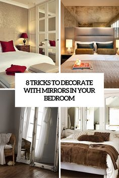 Как украсить вашу спальню с Зеркала - 8 уловок и 31 примера