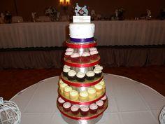 Wedding cake at Holiday Inn Crystal Lake on 6-1-13
