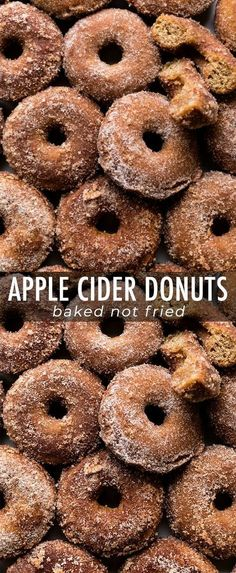 Baked apple cider donuts coated in buttery apple cinnamon spice! Easy and quick … Baked apple cider donuts coated in buttery apple cinnamon spice! Easy and quick baked donuts recipe on sallysbakingaddic… Easy Donut Recipe, Baked Donut Recipes, Baked Doughnuts, Cinnamon Donuts, Cinnamon Spice, Apple Donut Recipe, Baked Cider Donuts Recipe, Apple Baking Recipes, Cake Donut Recipe Baked