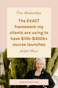 The Exact Framework My Clients Are Using to Have Successful Course Launches. The way launching has changed in 2019 and beyond (and how to be ahead of the curve!)  The exact framework my clients are using to have $10k-$400k+ course launches  Walkthrough of my actual launch calendar so you know what to do when. #coursecreation #launchcalendar #mariahcoz