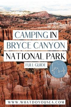 Camping in Bryce Canyon National Park is one of the best ways to explore this underrated park amongst Utah's Mighty Five. Pack up your camping gear and discover the best campsites inside Bryce Canyon, outside the park, and free alternatives if you're on a budget! Capitol Reef National Park, Us National Parks, Bryce Canyon Camping, Sunset Campground, Travel Around The World, Around The Worlds, Travel Usa, Canada Travel, United States Travel