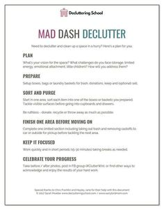 Free printable checklist that helps you declutter a LOT of stuff quickly.