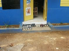 After making improvements at a school in rural Jamaica, the volunteers left their shoes behind for the local people who needed them.