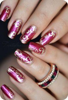 Nail art - Page 39 Great Nails, Fabulous Nails, Cute Nails, Nail Art Designs, Marble Nail Designs, Fancy Nails, Pink Nails, Holiday Nails, Christmas Nails