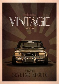 nissan_skyline_kpgc10_vintage_posters_design_by_ariasandhy-d9e2cvt.jpg (1024×1453)