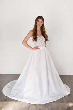 Lise Wedding Dress /// Full Sequin Skirt //Stretch by AnyaDionne