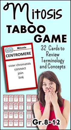 This Mitosis Taboo Game will have your students in stitches as they review the…