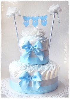 Gateau de couches baby shower It's a boy #babyshower #cadeaunaissance #diapercake #gateaudecouches