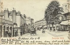 An undated old postcard showing the High Street. Tunbridge Wells, Old Postcards, First World, Old Photos, Castle, Wellness, War, Street, Places