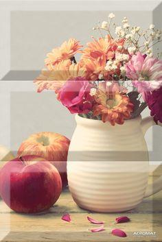 Плитка Absolut Keramika Monocolor COMP VASE декор3 бежевый,серый,красный,оранжевый