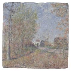 A Corner of the Woods at Sablons, 1883 Stone Coaster