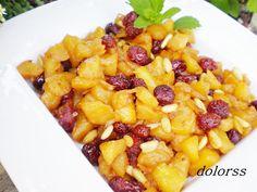 Blog de cuina de la dolorss: Guarnición de arándanos y manzana