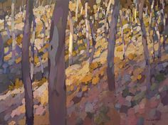 Michael White is an Australian artist with a gallery in the Blue Mountains. His works have a strong sense of design, and the colours. Blue Mountain, Australian Artists, White Art, Landscape Art, Birds, Colours, Gallery, Artwork, Art Ideas