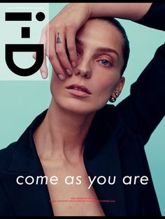 Daria Werbowy on the cover of i-D magazine Spring 2014 Creative Issue. Photograhed by Karim Sadli. Styled by Alastair McKimm.