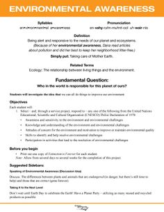 Environmentalism - Character Lesson Plan. Free, downloadable, 52 total.