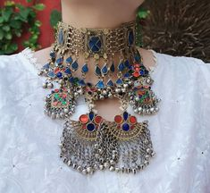 Choker necklace- Afghan Necklace - Moroccan jewelry- statement Necklace - African jewelry - Ethnic Jewelry - Beadwork - bohemian necklace Bohemian Necklace, Tribal Necklace, Coin Necklace, Dangle Earrings, Gypsy Jewelry, Coin Jewelry, Ethnic Jewelry, Moroccan Jewelry, African Jewelry