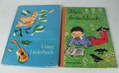 2 Grundschulbücher aus den 60er Jahren - Mein Sprachbuch + Liederbuch      /S171
