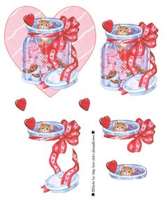 3D sheet - decoupage - valentine
