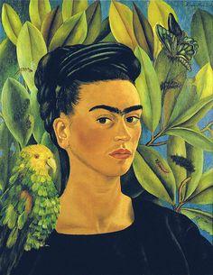 Frida Kahlo: Self-Portrait with Bonito (1941) | Flickr - Photo Sharing!