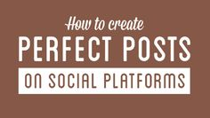 Πότε είναι ένα post επιτυχημένο στα #socialmedia; [#Infographic] http://www.socialmedialife.gr/115639/create-the-perfect-post-in-social-media-infographic/ #socialmedialife