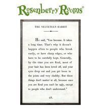Velveteen Rabbit quote for the nursery or kids room!