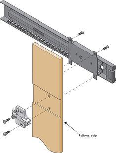 Concealed Door Slides - Lee Valley Tools Corner Cabinet Hinges, Diy Cabinet Doors, Sliding Hinges, Wooden Sliding Doors, Woodworking Shop, Woodworking Plans, Computer Desk With Hutch, Diy Home Repair, Diy Door