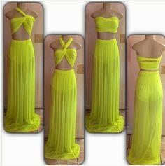 Custom made 3 piece set dress