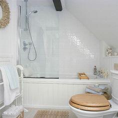 Sleek attic Bathroom Design Ideas 2019 Bathroom with Sloped Ceiling Small Attics, Attic Bathroom, Bathroom Makeover, Bathroom Ceiling, Small Attic Bathroom, Loft Bathroom, Sloped Ceiling Bathroom, Upstairs Bathrooms, Bathroom Design