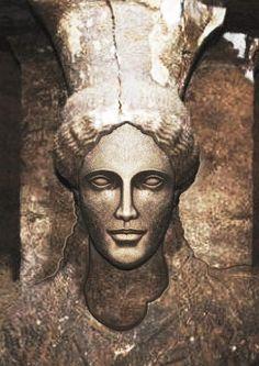 Greece-Amfipoli Kariatis restored by Lakis Papadakis