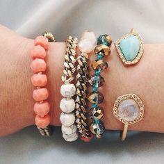 Chloe and Isabel Stacked Bracelets