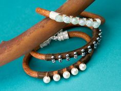 Best selection of beads and jewelry-making supplies. Leading supplier of Swarovski crystals, TOHO seed beads, Miyuki, and Czech glass beads. Leather Necklace, Leather Jewelry, Leather Bracelets, Leather Cord, Simple Bracelets, Jewelry Bracelets, Wrap Bracelets, Bead Jewelry, Bangles