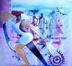 Primeiro passo. Pintura de joao timane. Acrilico sobre tela Artista africano Esta pintura trouxe o artista mocambicano joao timane ao mundo das artes.
