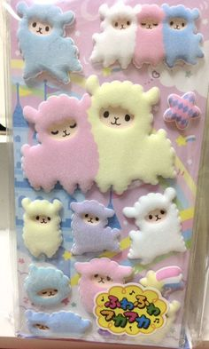 Puffy Alpaca Stickers - this looks like sugar cookie inspiration to me!