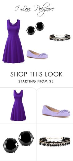 """purple"" by maja-zmeskalova on Polyvore featuring ANNA BAIGUERA and West Coast Jewelry"