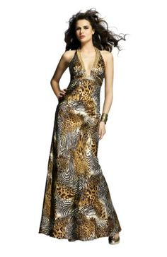 Halter Animal Print Prom Dress « Dress Adds Everyday