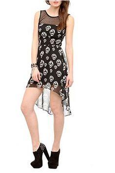 Heels and skull hi/low dress :)