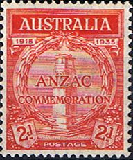 Australia 1935 Anzac SG 154 Fine Mint SG 154 Scott 150 20th Anniv of Gallipoli Landing Other British Commonwealth Empire and Colonial stamps for sale Here