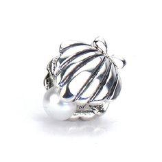 Bella Fascini Oyster Shell w/ Swarovski PEARL - European Charm Bracelet Bead - Solid Sterling Silver - Fits Perfectly on Chamilia Moress Pandora Troll and Compatible Brands Bella Fascini Beads, http://www.amazon.com/dp/B009SXTF0G/ref=cm_sw_r_pi_dp_4ZGXqb050NJSR