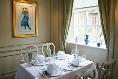 Our restaurant with Blå kjole by Edward Munch Restaurant, Curtains, The Originals, Home Decor, Insulated Curtains, Homemade Home Decor, Blinds, Diner Restaurant, Restaurants