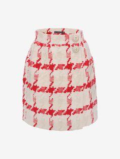 Dogtooth Check Mini Skirt Alexander McQueen