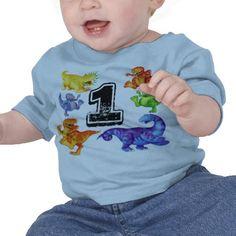 1st Birthday Dinosaurs T shirt