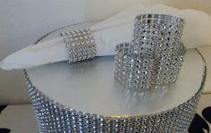 100 bling rhinestone wedding napkin rings