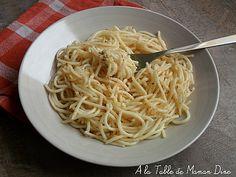 spaghettis ail et piment cyril lignac